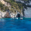Blue caves of the island of Paxos, Ionian Sea, Greece — Stock Photo