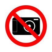 No photography allowed sign — Stock Photo