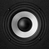 Black & white speaker — Stock Photo
