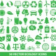 50 vector ecology icons — Stock Vector #32976343