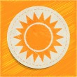 Vector sun icon — Stock Vector