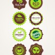 Set of vector organic badges — Stockvektor