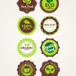 Set of vector organic badges — Stock Vector