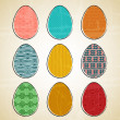 Vector Easter eggs — Stock Vector