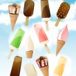 Vector set of ice creams — Imagen vectorial