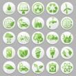 Vector eco icons — Stock Vector