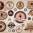 Vector coffee labels — Stock Vector
