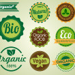 Vector set of organic badges — Stock Vector