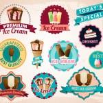 Vector ice cream stickers — Stock Vector #32978215