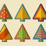 Vector set of creative christmas trees — Stock Vector #32978261