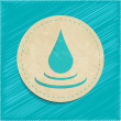 Vector water drop sticker — Stock Vector