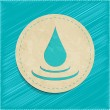 Stock Vector: Vector water drop sticker