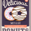 Vector vintage styled donuts poster — Stock Vector #32979683