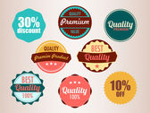 Set of vector badges — Stock Vector