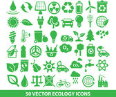 50 vector ecology icons — Stock Vector