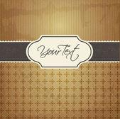Cartão vintage vector — Vetor de Stock