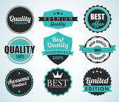 Set of vector badges — Stock Vector