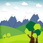 векторный пейзаж — Cтоковый вектор
