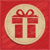 Vector gift icon — Stock Vector
