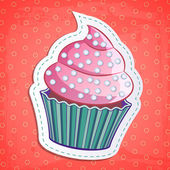 Vektor-süße cupcake sticker — Stockvektor