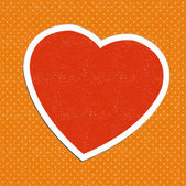 Vector vintage heart sticker — Stock Vector
