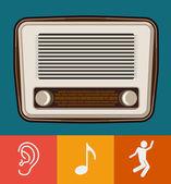 Stare radia wektor — Wektor stockowy