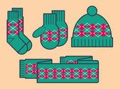 Vector winter clothing — Stock Vector