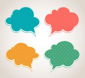 Vector speech bubbles — Stock Vector