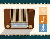 ベクトル古いラジオ — ストックベクタ