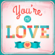 Vector vintage love card — Stock Vector