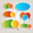Set of colorful speech bubbles — Imagens vectoriais em stock