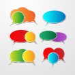 Set of colorful speech bubbles — Imagen vectorial