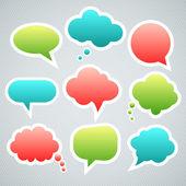 Vector speech clouds stickers — Stock Vector