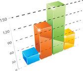 Vector graph — Stock Vector