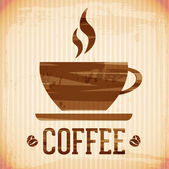 Vector coffee icon - brush stroke style — 图库矢量图片