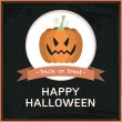 Vector Halloween card — Stock Vector