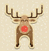 Vector christmas reindeer — Stock Vector