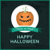 Vector halloween-kaart — Stockvector