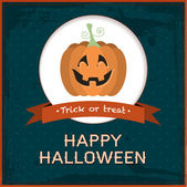 Vector carta di halloween — Vettoriale Stock