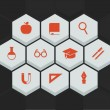 Stock Vector: Education and science icons