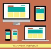 Computers web design — Stock Vector
