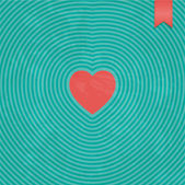 Heart card — Stock Vector