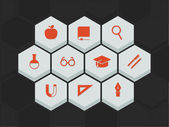 Education and science icons — Wektor stockowy