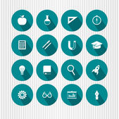 Education and science icons — Vector de stock