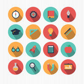 Education and science icons — Stock Vector
