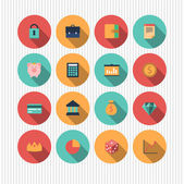 Money and finance icons — Stock Vector