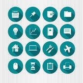 Zestaw ikon uniwersalne — Wektor stockowy