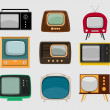 Set of old televisions — Stock Vector #40510309