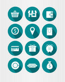 Set of shopping icons — Stock Vector