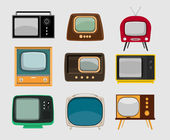 Set of old televisions — Stock Vector
